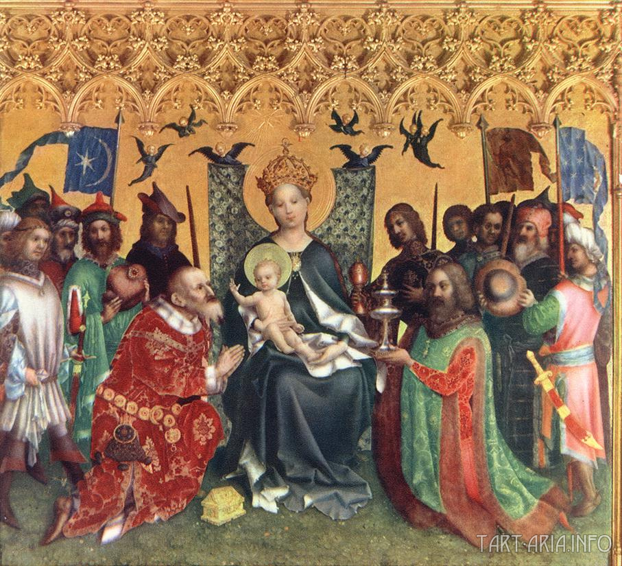 «Adoration of the Magi» by Stefan Lochner (1440).