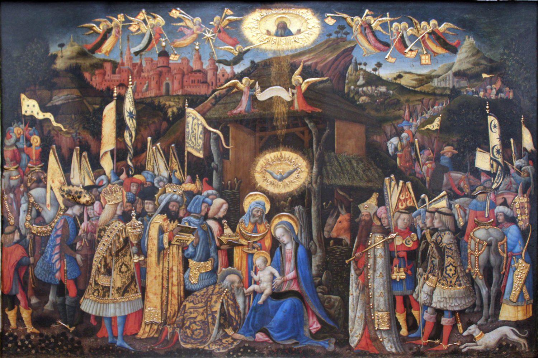 «Adoration of the magi» by Antonio Vivarini (1440-1480).