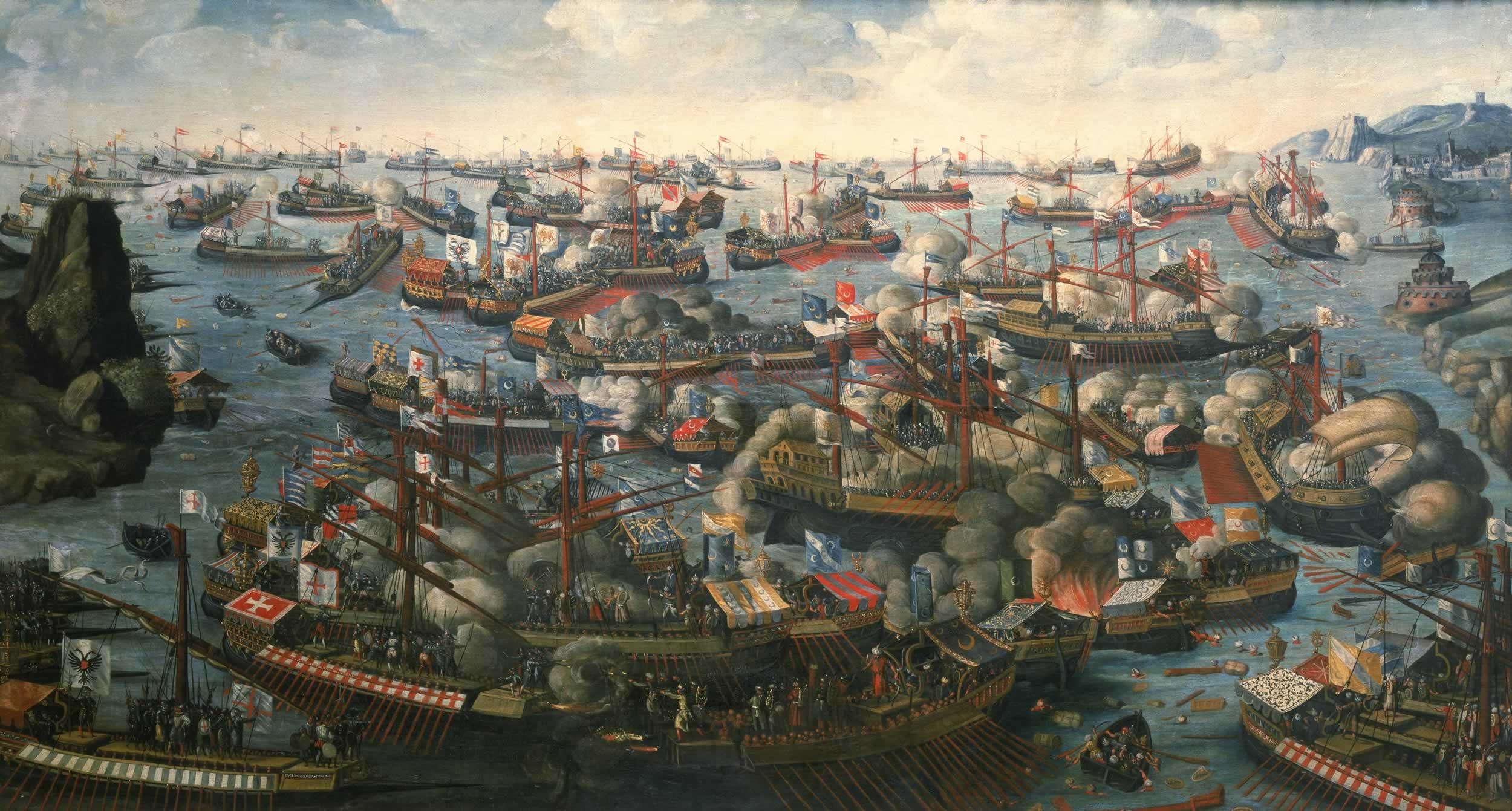 Битва при Лепанто в 1571 году (картина неизвестного художника).