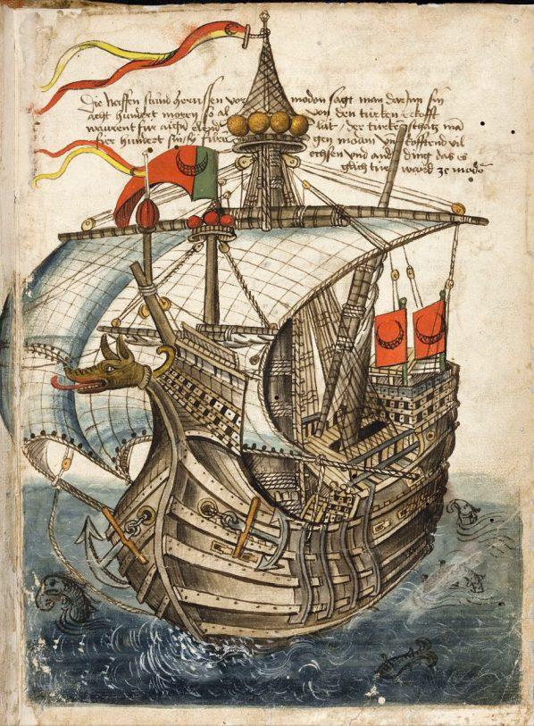 Изображение взято из «Beschreibung der Reise von Konstanz nach Jerusalem» by Conrad Grünenberg. (Перевод названия: «Описание путешествия из Ко́нстанца в Иерусалим»)