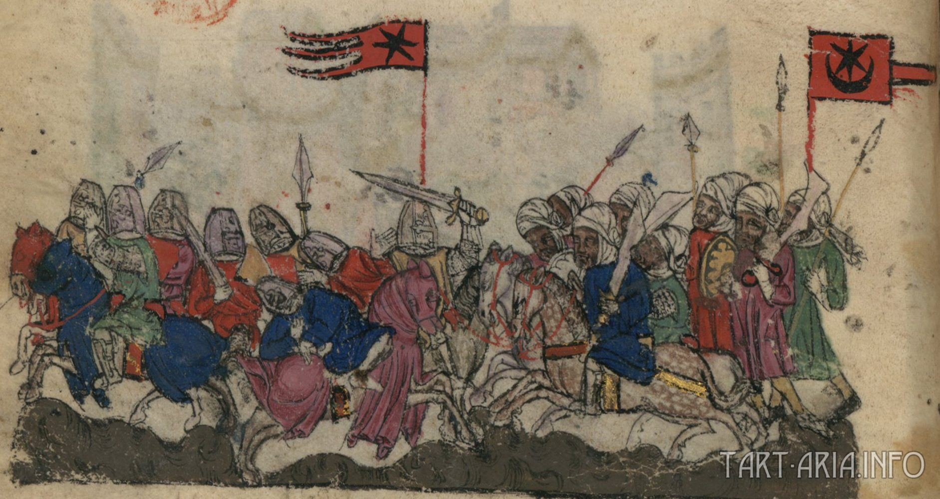 Битва при Ярмуке между Византией и Арабским исламским халифатом в 636 году.