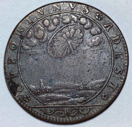 Французская монета 17 века (надпись – OPPORTUNUS ADEST).