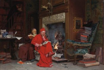 "Картина ""The Committee on Moral Books"", 1866 год, автор Жан Жорж Вибер"