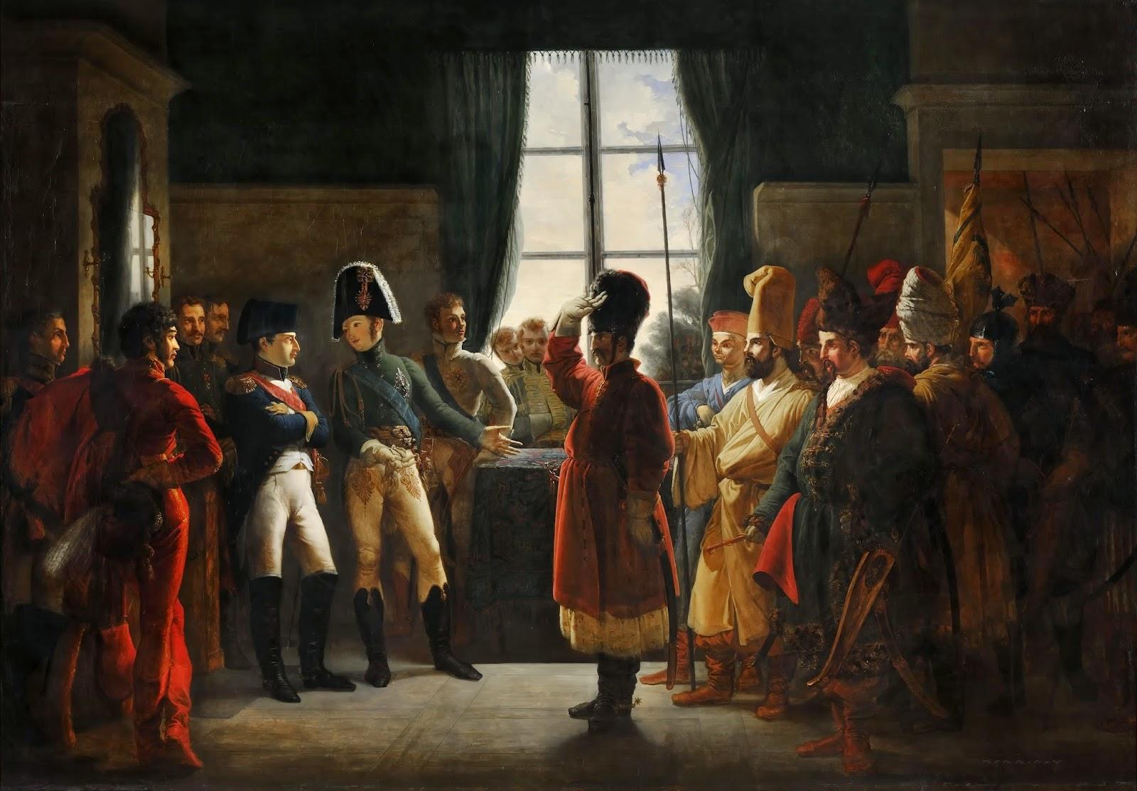Александр показывает Наполеону русскую армию